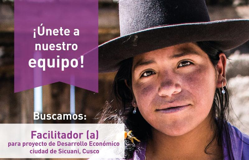 Facilitador para Proyecto de Desarrollo Económico en Sicuani, Cusco