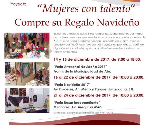 Emprendedoras de Ate Vitarte presentarán sus productos en tres ferias de Lima